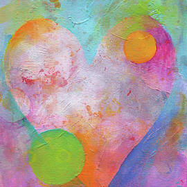 Love universe abstract art by Karen Kaspar