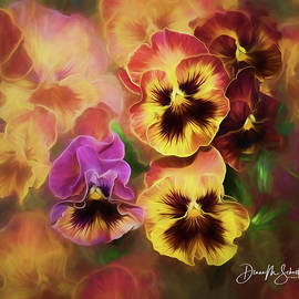 Lovely Spring Pansies by Diane Schuster