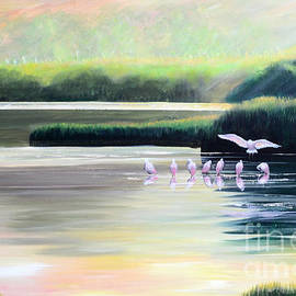Low Country Roseate Spoonbill by Patricia L Davidson