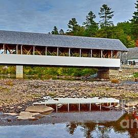 Low Water at the Stark Covered Bridge by Steve Brown