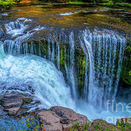 Lower Falls, Mt St Helens, Oregon, Waterfall,  by David Millenheft