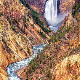 Lower Falls of the Yellowstone by Stephen Stookey
