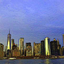 Lower Manhattan Skyline 2 - Photopainting by Allen Beatty