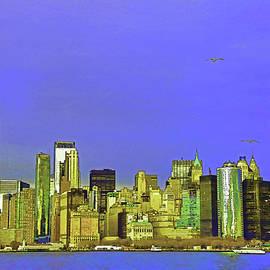 Lower Manhattan Skyline 3 - Photopainting by Allen Beatty