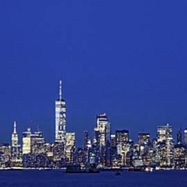 Lower Manhattan Skyline as seen from Staten Island by Allen Beatty