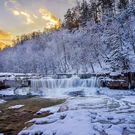 Lower Taughannock Falls In Winter by Mark Papke