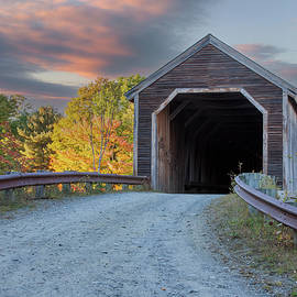 Low's Covered Bridge in Guilford Maine by Jeff Folger