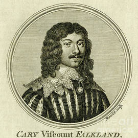Lucius Cary, Viscount Falkland, 17th century intellectual - scan of antique engraving by Terence Kerr