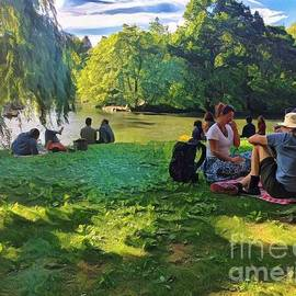 Luncheon of the Boating Party - Summer in Central Park by Miriam Danar