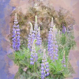 Lupine Cluster Texture by Patti Deters