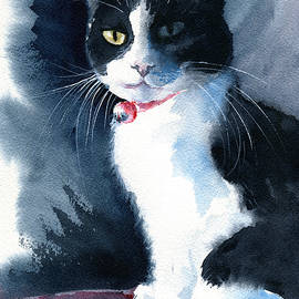 Madame Tuxedo Cat Painting by Dora Hathazi Mendes