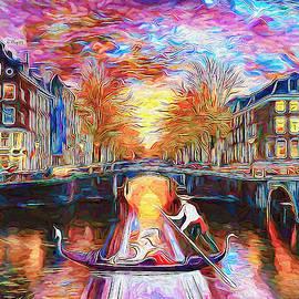 Magic sunset in Amsterdam by Nenad Vasic