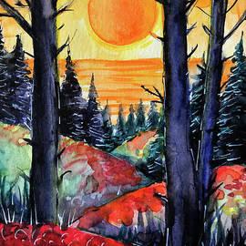 MAGIC SUNSET watercolor painting Mona Edulesco by Mona Edulesco