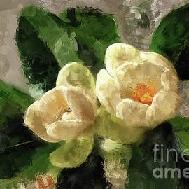 Magnolias and Crystal by Lois Bryan
