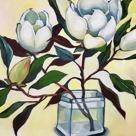 Magnolias in a Vase by Natasha Ruffio