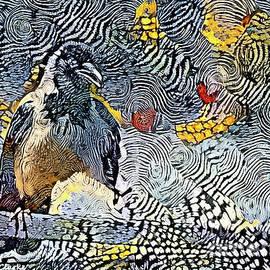 Magpie Antics by Bunny Clarke