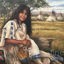 Maiden in the Valley by Vel Miller