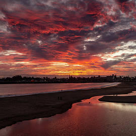 Main Beach Sundown 1/21 by Bruce Frye
