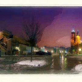 Main Square, Winter Panorama by Jerzy Czyz