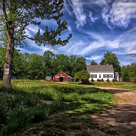 Maine Red Barns by Catherine Melvin