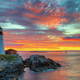 Maine sunrise at the Portland Head Light by Juergen Roth