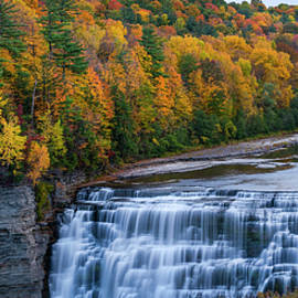 Majestic Middle Falls by Mark Papke