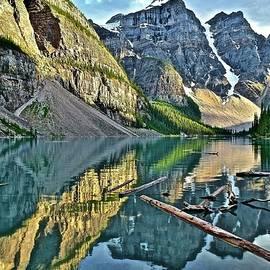 Majestic Moraine Mountain Landscape  by Frozen in Time Fine Art Photography