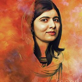 Malala Yousufzai Pakistani Girl  by Gull G