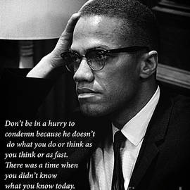 Malcolm X - Quote II by Doc Braham