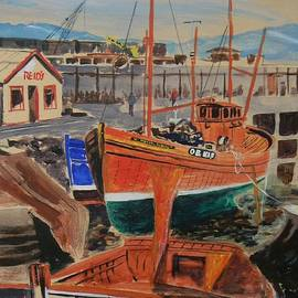 Mallaig Harbour Scotland Trawlers by Eugene and Kathleen Smith