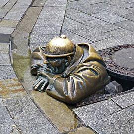 Man at Work in Bratislava, Slovakia by Lyuba Filatova