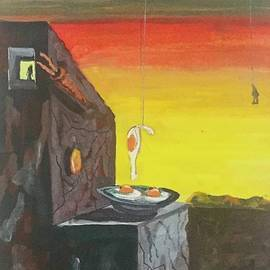 Man Hanged With Fried Egg by Mike King