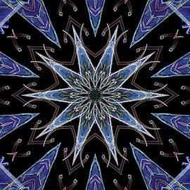 Mandala 9 by Don Zawadiwsky