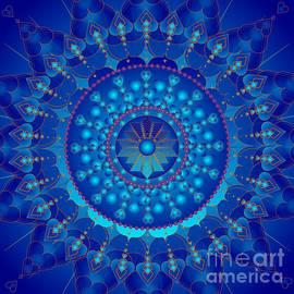 Mandala Blue Ray Healing by Sarah Niebank