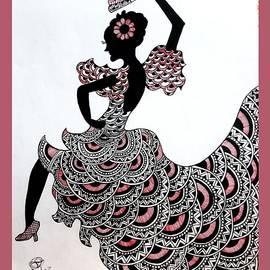 Mandala Spanish Girl by Somila Chakraborty