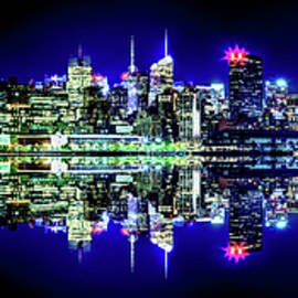 Manhattan Cityscape Reflections by Az Jackson