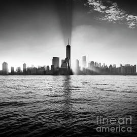 Manhattan Dawn Black and White by Justin Foulkes