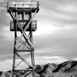 Manzanar Guard Tower Monochrome by Douglas Taylor