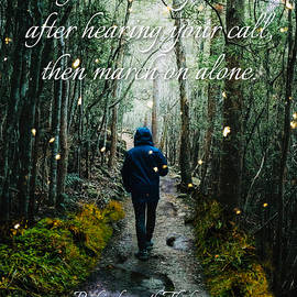 March On Alone - Inspirational Tagore Quote