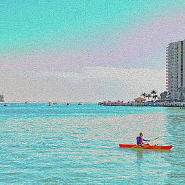 Marco Island Kayaker by Debra Kewley