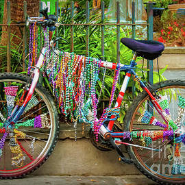 Mardi Gras Bike Painted - NOLA by Kathleen K Parker