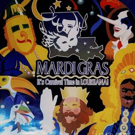 Mardi Gras - New Orleans  by Dora Sofia Caputo