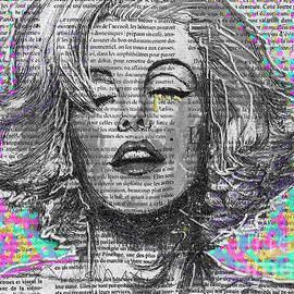 Marilyn Golden Tear by Pop Art World