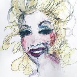 Marilyn Monroe Watercolor Portrait by Debora Lewis