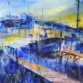 Marina at Wrightsville Beach by Lyudmila Tomova