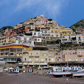Marina Grande beach, Positano, Campania, Italy. by Joe Vella