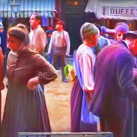 Market in New York City 1920 by Omid Gohardani