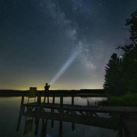 Marl Lake Milky way by Ron Wiltse
