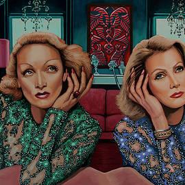 Marlene Dietrich and Greta Garbo Painting by Paul Meijering