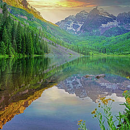 Maroon Bells by Cathy P Jones